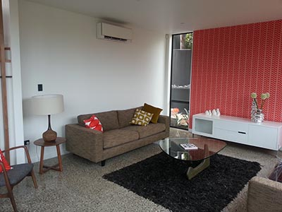 heat pump install in lounge